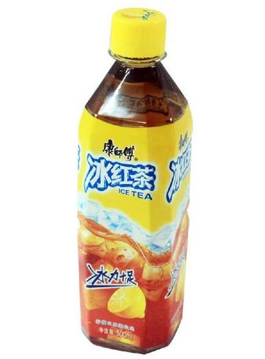 冰红茶灌装效果